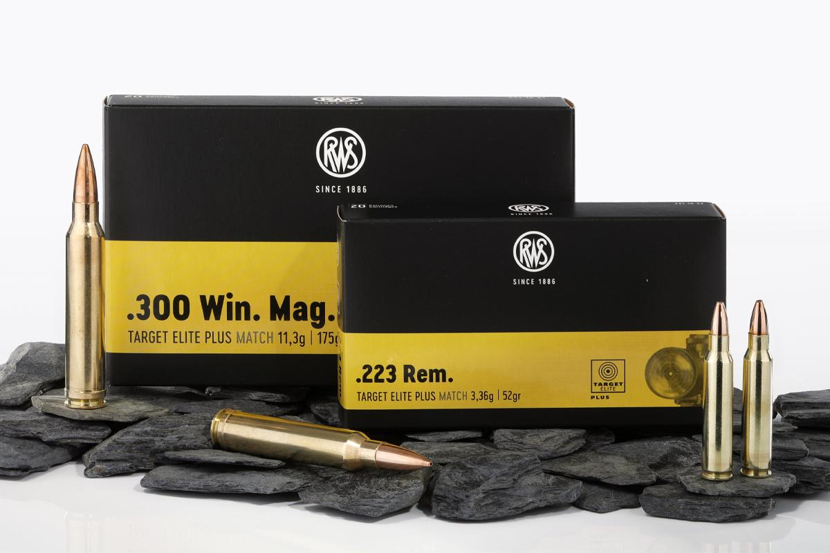 Packaging of the RWS TARGET ELITE PLUS in .223 Rem. and .300 Win. Mag.