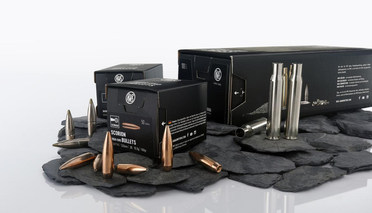 Presentation of our reloading program with pictures of RWS bullets and cases
